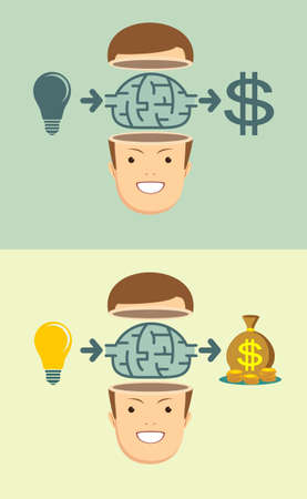 Brainstorm concept - Idea can make lots of money.