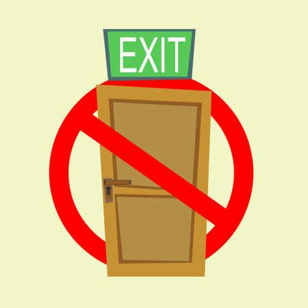 No Exit Sign 向量圖像
