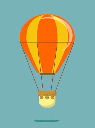 Hot air balloon .