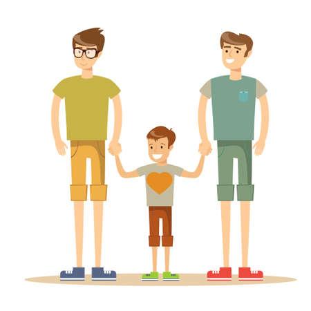 3 broers geïsoleerd op wit.