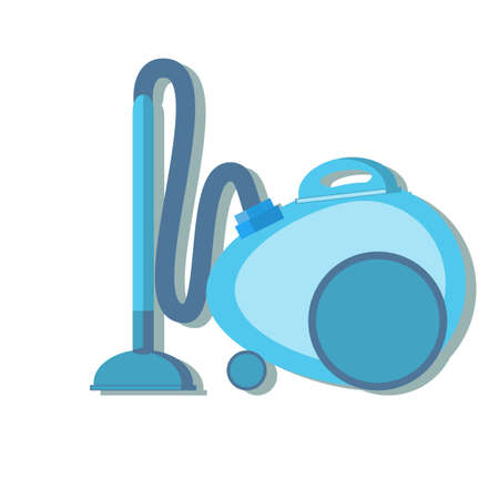 Vacuum cleaner vector icon. Stock flat vector illustration. Illustration
