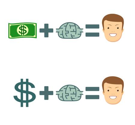 Money and brains make you happy.