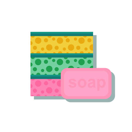 Sponge with a piece of soap