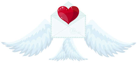 Flying love message icon