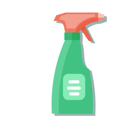 Cleaning spray bottle. Stock flat vector illustration. Illustration