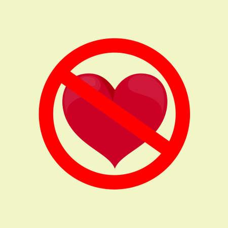 No Love. Stock flat vector illustration. Illustration