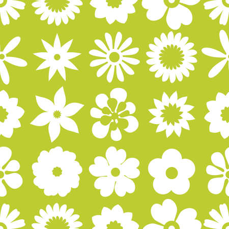 Seamless floral pattern. Repeated flowers. Vector illustration. Illustration