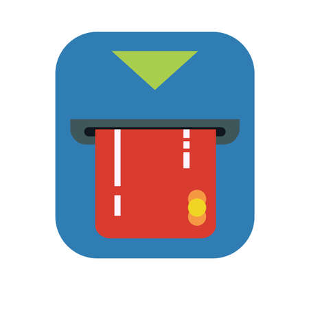 ATM card vector icon illustration.