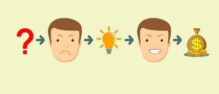 Transform idea intro business concept Illustration
