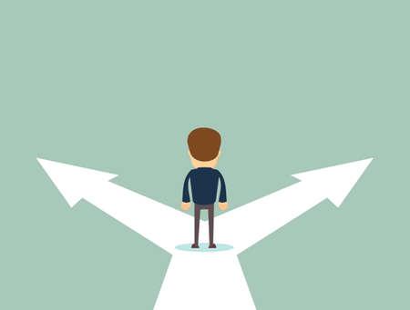 Ilustracja wektorowa koncepcja decyzji biznesowych. Ilustracje wektorowe