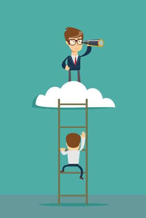 Business leadership vector concept Illustration