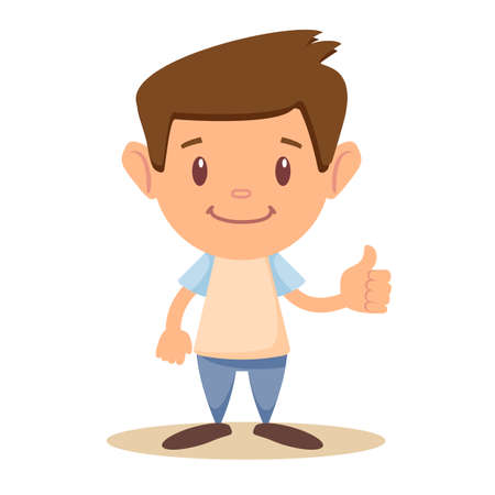 Child thumbs up, Illustration