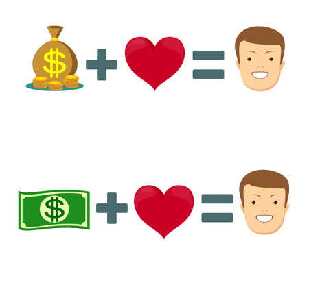 Love and money icon