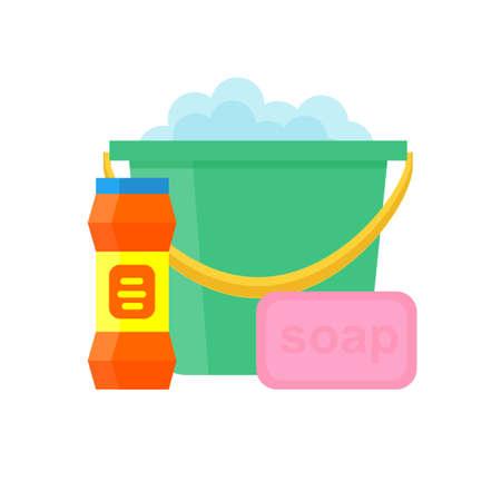 Detergents vector set Illustration