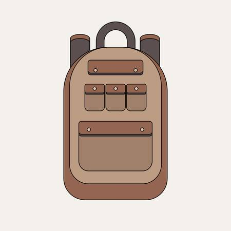 school backpack isolated on white background.Tourist backpack