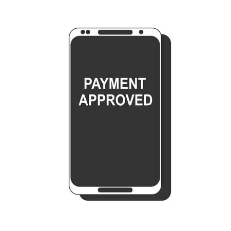 Payment completed message on a mobile phone screen.