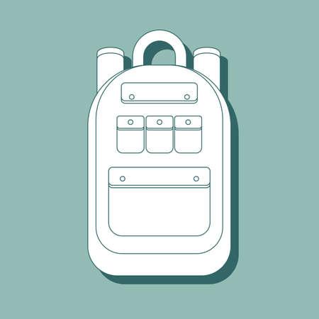 Icône de sac à dos. Icône de sac à dos de contour pour la conception web isolée sur fond. Illustration vectorielle plane stock.