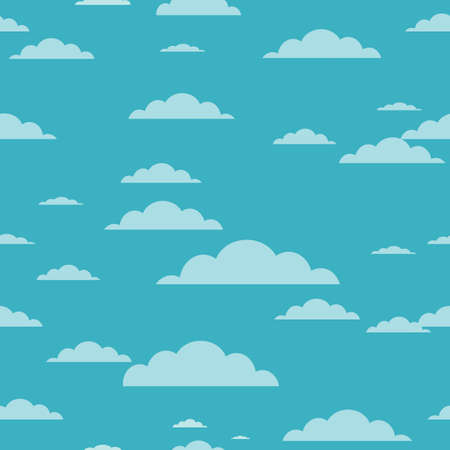 Clouds background - seamless cloud texture vector Stock Photo