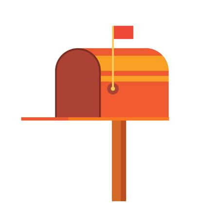 Retro vinatge styed mail box. Flat Style Vector Illustration . Design perfect for mail subscription.