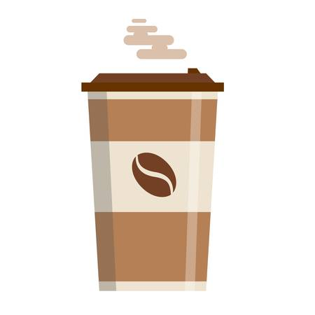 Coffee cup vector illustration isolated on background. Иллюстрация