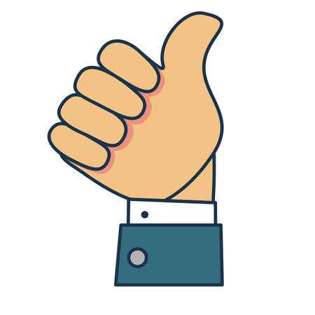 Thumb up icon. Stock flat vector illustration. Banque d'images - 124632314