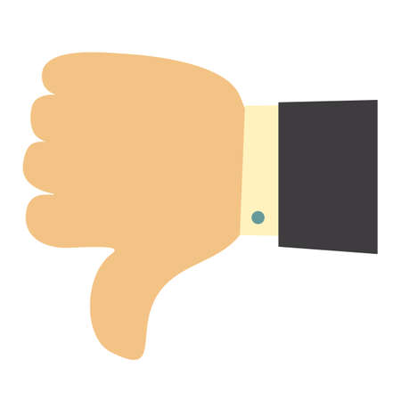 Thumb down symbol, finger down icon vector illustration. dislike. Banque d'images - 124459760