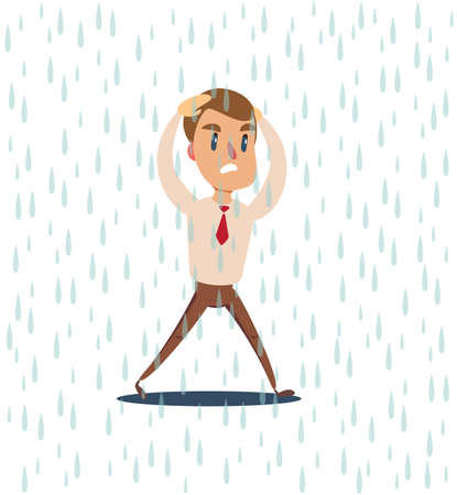 businessman run from the rain .