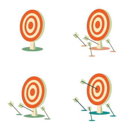 Abstract target flat design icon illustration.