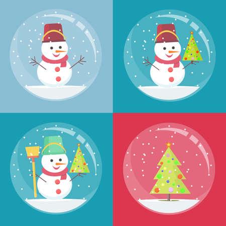 snowman inside Christmas decoration Archivio Fotografico - 133680003