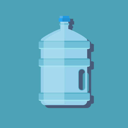 Icon big bottle with clean water. Plastic container for the cooler. Isolated on white background. 向量圖像