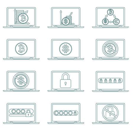 Password security vector icon