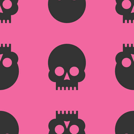 Skulls seamless pattern 向量圖像