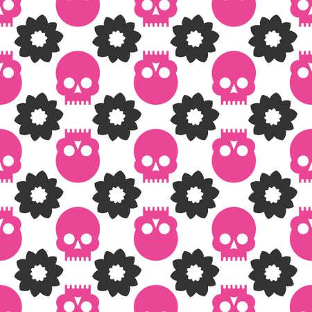 Skulls seamless pattern Ilustração