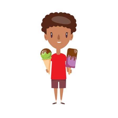 Smiling school kid. Cheerful elementary school student, kindergarten pupil cartoon character.