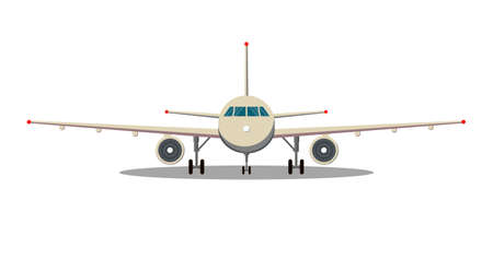 Airplane front view.