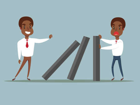 domino effect - Business concept vector illustration