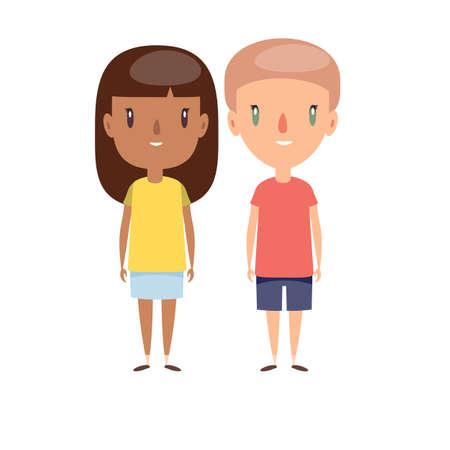 Boy and girl - characters Foto de archivo - 138473416