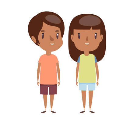 Boy and girl - characters. Stock fotó - 137897078