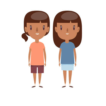 Boy and girl - characters. Stock fotó - 137896627
