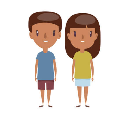 Boy and girl - characters.
