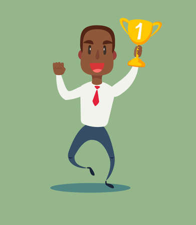 Concept of successful black african american businessman