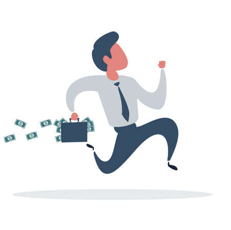 Businessman is running. Business concept illustration.