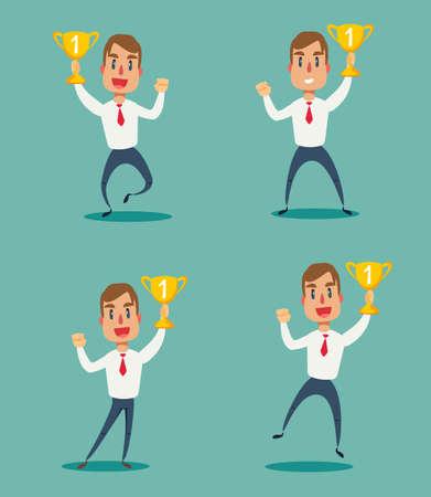 Concept of successful businessman. Stock fotó - 142649830