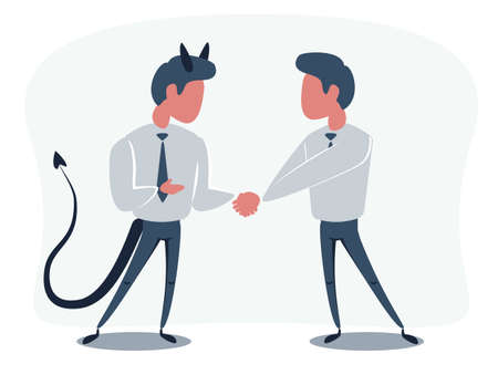 The Deal. Two business mans shaking hands Vektorové ilustrace