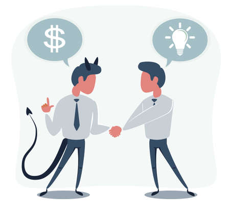 The Deal. Two business mans shaking hands 向量圖像