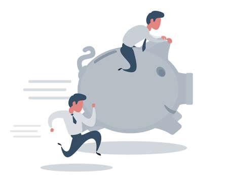 Business people race. Business illustration