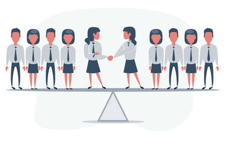Successful businessman collective teamwork cooperation concept.
