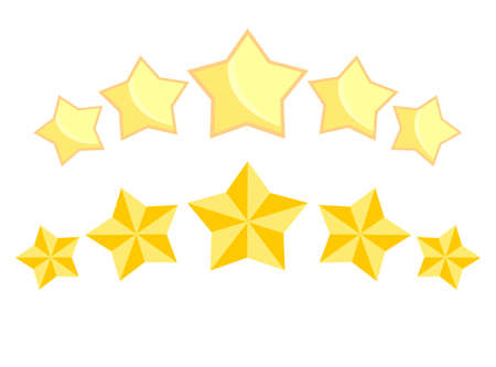 Five golden stars. Luxury and quality rating.