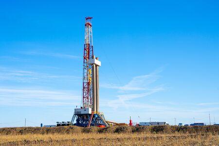 Öl- und Gasbohrinsel. Ölbohrinselbetrieb auf der Ölplattform in der Öl- und Gasindustrie Standard-Bild