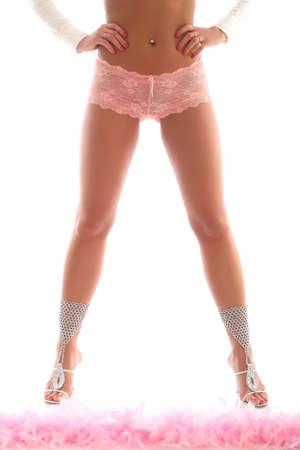 beautiful long, slender legs young girls photo